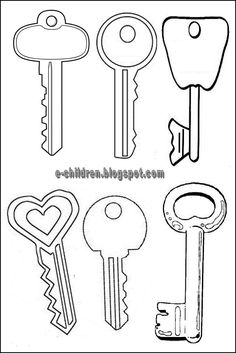 key pattern use the printable outline for crafts creating stencils