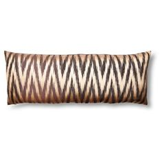 Check out this item at One Kings Lane! Jacquard 14x36 Pillow, Brown