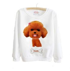 Poodle dog sweatshirt animal sports sweatshirt