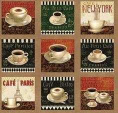 South Seas Coffee Break Assorted Coffee 24 by Loriscountryfabrics, $7.00