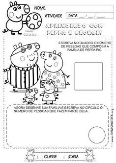 Atividade Família Identidade Peppa Pig   Ideia Criativa - Gi Barbosa Educação Infantil