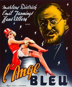 DER BLAUE ENGEL; French poster.