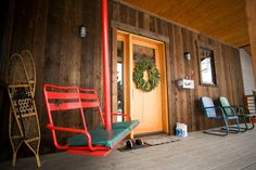 why yes i would love a re-purposed ski lift chair swing on my front porch