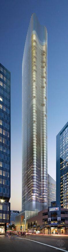 Tower in 115 Bathurst Street, Sydney #rascacielos #edificios #skyscrapers #buildings