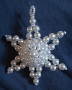 Beaded Star Ornament by chabias on Etsy, $2.00