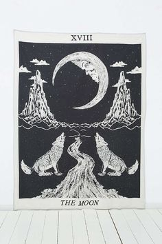 I love dreamy mystical art work displayed in the bedroom. Tarot Moon Tapestry - Urban Outfitters