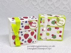 Easy FLIP TOP fruity box Stampin' Up! products