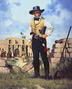 """James """"Jim"""" Bowie  (April 10, 1796 – March 6, 1836), a 19th-century American pioneer, slave trader, land speculator, and soldier, played a prominent role in the Texas Revolution, culminating in his death at the Battle of the Alamo. Born in Logan County, KY"""