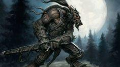 Скачать обои world of warcraft, ворген, воин, worgen, луна, moon, раздел игры в разрешении 1366x768