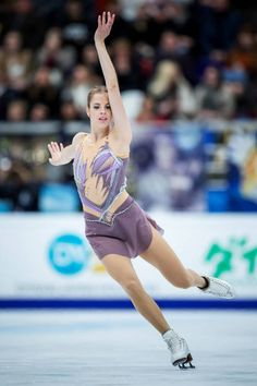 Carolina Kostner of Italy competes in the Ladies Free Skating during day two of the ISU Grand Prix of Figure Skating, Rostelecom Cup at Ice Palace Megasport on October 2017 in Moscow, Russia. (Photo by Joosep Martinson - ISU/ISU via Getty Images) Roller Skating, Ice Skating, Isu Figure Skating, Carolina Kostner, Rostelecom Cup, Women Figure, Ladies Figure, Alina Zagitova, Figure Skating