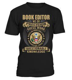 Book editor - We Do Precision Guess Work