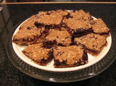 Blackberry Breakfast Bars,   Sooo good you can't have just one! Tip: If using frozen blackberries I don't usually put in the water and I thicken the berries with a few tablespoons of flour.  I also save more than a cup of the oatmeal mixture to put on top, almost half.
