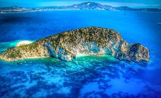 Marathonisi Island Laganas Bay, Zakynthos The island of the Caretta-Caretta turtles