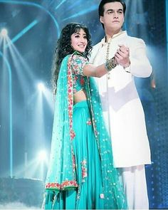 Image may contain: one or more people and people standing Indian Bridal Outfits, Indian Designer Outfits, Designer Dresses, Baby Girl Photography, Photography Poses Women, Shivangi Joshi Instagram, Kartik And Naira, Kaira Yrkkh, Cute Couples Photos