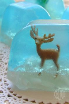 Crafty soap idea for kids  Need: some wee little toys, a brick of clear glycerine, some soap dye in blue, some soap scent and some soap glitter. the microwave, a dish to melt and pour things in, a potato peeler, a cheese grater and a spoon for stirring. You'll also need a bar of white