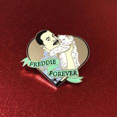 Freddie Mercury forever enamel pin