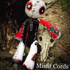 goth doll rag doll skeleton Cute and Creepy horror by MisfitCords