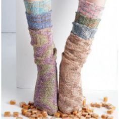Free Spiral Tube Socks Knit Pattern - Free Patterns - Books & Patterns