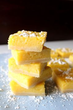 Similar to a lemon bar, with a tropical flair. They feature a shortbread crust, smooth mango lemon filling, and a topping of slightly sweet toasted coconut.