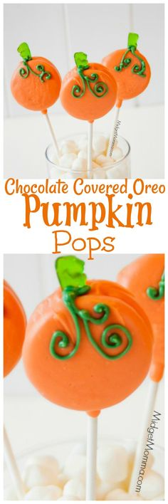 Pumpkin Oreo Pops would make a great addition to your Thanksgiving table, perfect for dessert and in a vase make a great centerpiece too! Easy to make pumpkin treat made with oreos. Halloween oreo treat or a thanksgiving oreo treat whichever you make it