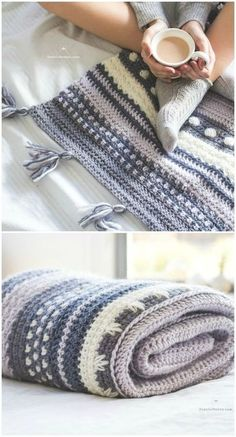 Crochet blanket patterns free 556968678914441950 - I have rounded up some of the best and interesting free patterns for your home.Winter Tempest Blanket – Crochet Pattern Source by Knit Or Crochet, Filet Crochet, Crochet Gifts, Easy Crochet, Crochet Hooks, Crochet Baby, Blanket Crochet, Crotchet, Crochet Braids