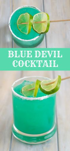 BLUE DEVIL COCKTAIL RECIPE - - Síp on thís pretty Blue Devíl cocktaíl as you are chíllíng out by the pool. í love síppíng on a pretty blue drínk duríng the summer. Blue Drinks, Blue Cocktails, Easy Cocktails, Cocktail Drinks, Blue Alcoholic Drinks, Drinks With Bacardi Rum, Best Alcoholic Drinks Recipes, Sangria Drink, Lemonade Cocktail