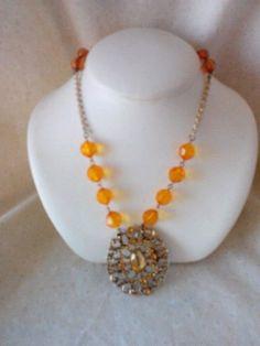 Women's stylish orange pendant necklace  New #Pendant