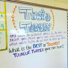 Today we're getting a little #twisted!! #iteach7th #iteachtoo #teachersofinstagram #teachersfollowteachers #miss5thswhiteboard