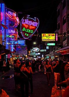 Walking Street, Pattaya, Thailand. Imagine going during their New years. Sooo excited to go back!