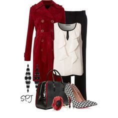 A fashion look from February 2013 featuring Soaked in Luxury blouses, Linea Weekend coats and STOULS pants. Browse and shop related looks.