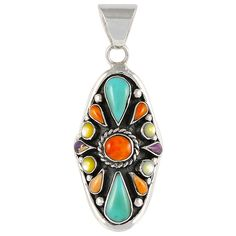 Southwest Style Pendant Sterling Silver Jewelry