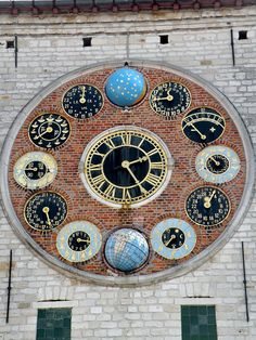 Astronomical Clock (Zimmer Tower) from nearby, town of Lier, Province of Brabant, Belgium