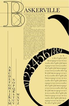 A clever way to create a Type design based on the typeface Baskerville. It's still playful and understandable at the same time. By using the yellowish background makes the contrast still strong but not to strong. Poster Design Layout, Typography Poster Design, Typographic Design, Book Layout, Typography Inspiration, Typography Fonts, Brochure Design, Graphic Design Inspiration, Design Ideas