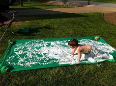 shaving cream slip & slide!