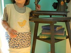 girl art apron