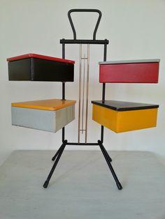 SEWING BOX / 50s Dutch Teders Metalux  / mid door dutchdetails