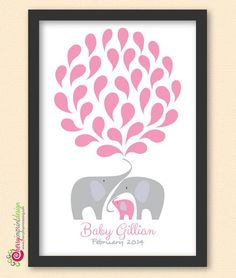 Find out about Distinctive Printable Elephant Child Bathe Visitor E-book Nice for Coed Showers DIY (Dig...