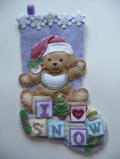 Bucilla finished felt Christmas stocking 18 fully por MsBehaveKim