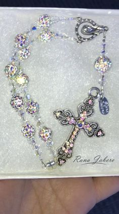 Car Rosary made with crystals from Swarovski®