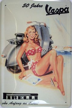 Vespa, Retro, Wonder Woman, Superhero, Fictional Characters, Women, Men And Women, Sheet Metal, Wasp