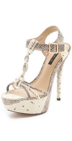 2b211c973d4c1 Rachel Zoe Valerie Snake Platform Sandals Stilettos