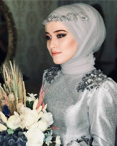Weddings are special occasions wearing a Wedding Abaya fills the need of modesty. This also can be made extremely elegant check full Wedding Abaya guide. Wedding Abaya, Hijabi Wedding, Muslimah Wedding Dress, Muslim Wedding Dresses, Muslim Brides, Bridal Dresses, Hijab Evening Dress, Hijab Dress Party, Bridal Hijab Styles