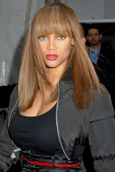 Tyra Banks straight long hairstyle synthetic wig   VIEW MORE ON: http://shop.wigsbuy.com/Custom-Tyra-Banks-101871/