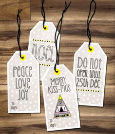 Maiko Nagao: FREE: Printable Christmas gift tags by Maiko Nagao #freeprintable #freeprintables