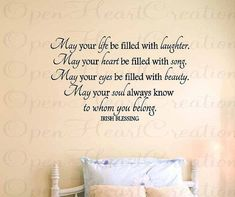 Wall Decals  Irish Blessing Vinyl Wall Quote by openheartcreations, $49.00