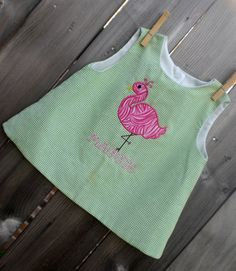 Flamingo Machine Embroidery Design Applique by theappliquediva, $2.99