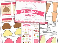 FREE Pretend Play Set: Ice Cream Shoppe