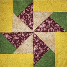In the hoop paperpieced quilt square
