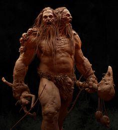 Spread the _ Giant ettin warrior_ART by Santhosh kumar Racha I want to share my latest work Giant ettin Fantasy Figures, Fantasy Rpg, Fantasy Artwork, Fantasy Races, Zbrush Character, Character Art, Character Design, Fantasy Monster, Monster Art