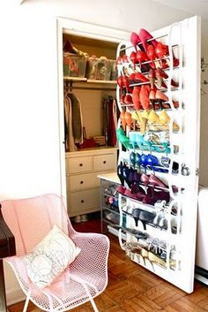 Maybe not shoes but definitely should use back of door for storage
